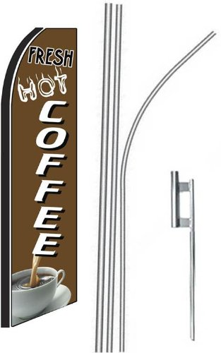 3 three FRESH HOT COFFEE 15 Swooper #4 Feather Flags KIT
