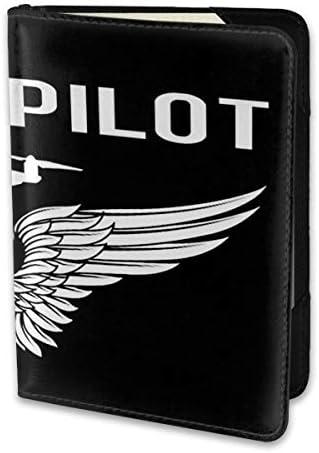 ドローンパイロット Drone Pilot パスポートケース メンズ 男女兼用 パスポートカバー パスポート用カバー パスポートバッグ 小型 携帯便利 シンプル ポーチ 5.5インチ高級PUレザー 家族 国内海外旅行用品