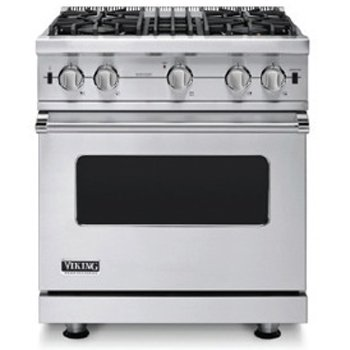 Viking VGIC53014BSS 5 Series 30 Inch Freestanding Gas Range with 4 cu....