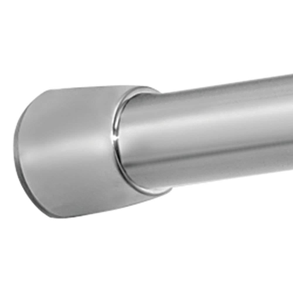 iDesign Barra para cortinas de ducha barra telesc/ópica extensible para instalar sin taladro soporte para cortinas de ba/ño de tama/ño largo y de acero plateado mate