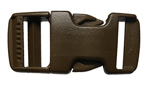 Plastic Buckle Set 2 Set 4Pc Military Grade Quick Pinch Side Release 0.75 Inch Single Adjustable Coyote Brown