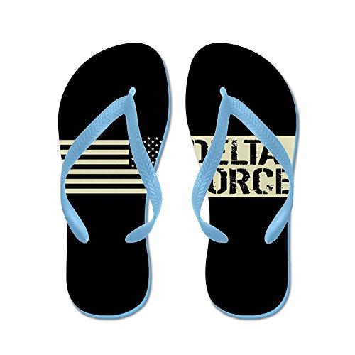 68d6df5ec3aa CafePress - U.S. Army  Delta Force (Black Flag) - Flip Flops