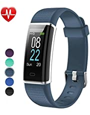 Willful Fitness Armband Herzfrequenz Smart Armband Uhr IP68 Wasserdicht Sport Fitness Tracker Pulsmesser mit Schrittzähler,Kalorienzähler,Vibrationsalarm,Whatsapp SMS Beachten Multi-Sport-Tracker