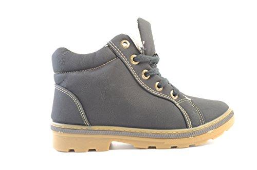 weberfashion - Zapatos de cordones para mujer Negro negro 38 Negro - negro
