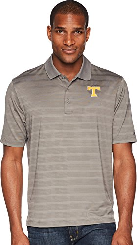 Champion NCAA Tennessee Volunteers Men's Textured Solid Polo, Small, Titanium