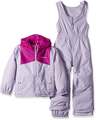 Columbia Kids & Baby Toddler Double Flake Set, Bright Plum/Soft Violet, 2T