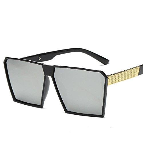Aoligei Actuel grand cadre rétro carrés lunettes de soleil boîte de lunettes de soleil F