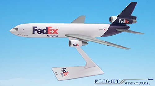 Dc 10 Airplane (FedEx (00-05) DC-10 Airplane Miniature Model Plastic Snap Fit 1:250 Part#)