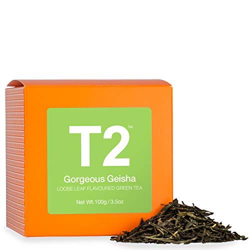 (T2 Tea - Gorgeous Geisha Green Tea, Loose Leaf Tea in a Box, 100g (3.5oz))