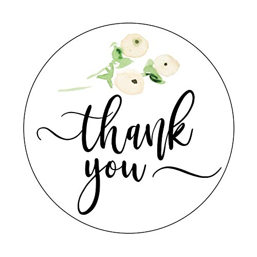 Thank you Stickers, Blush Flower Bouquet, Floral Accents, Thank You Labels, Favor Stickers, Thank You, Cute Thank You Stickers ()