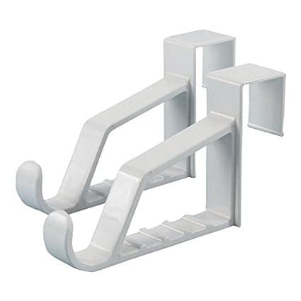 Hangerworld 6 Ganchos Percheros para Puerta Plástico Blanco para Colgar del Canto de la Puerta