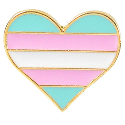 Flairs New York Premium Handmade Enamel Lapel Pin Brooch Badge ([LGBTQ+] Transgender Heart, 1 Pin)