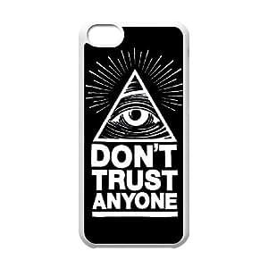 iPhone 5c funda Blanco [PC dura del caso + HD Pattern] Serie Illuminati® [Numeración: JJJJDHKOD7513]