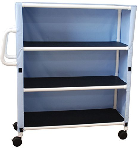 MJM International 350-24-3C-MRI MRI 3 Shelf Jumbo Cart with Cover, Royal Blue/Forest Green/Mauve ()