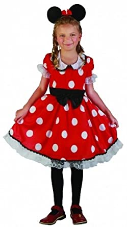 Childrens Girls Minnie Mouse Costume - Age 4 -13 Years (message Size)  sc 1 st  Amazon UK & Childrens Girls Minnie Mouse Costume - Age 4 -13 Years (message Size ...