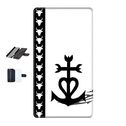 Housse Iphone 5c - Croix de Camague fond blanc