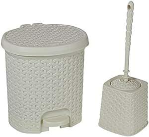 Hobby Life 11119 Çöp Kovası,Tuvalet Seti, Plastik, 5.5L Wc, 2 Li