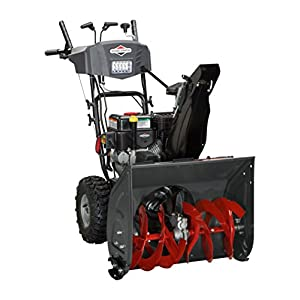 Briggs & Stratton 1696614 Dual-Stage Snow Thrower with 208cc Engine and Electric Start, Black