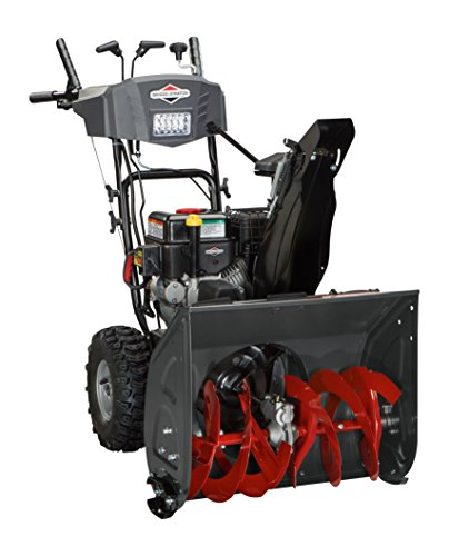 Briggs & Stratton 1696614 Dual-Stage Snow Thrower with 208cc Engine and Electric Start, 24'