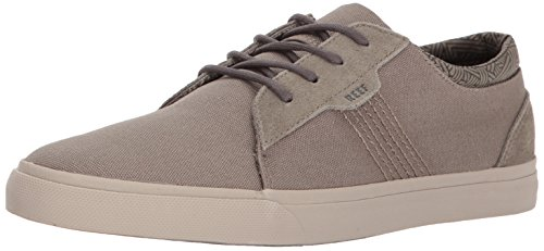 Reef Men's Ridge Fashion Sneaker, Dark Grey/Silver, 10 M US