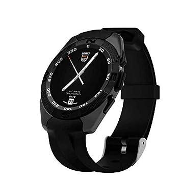 Bluetooth Reloj Inteligente con Cámara,responder y hacer llamadas telefónicas,dos forma anti-