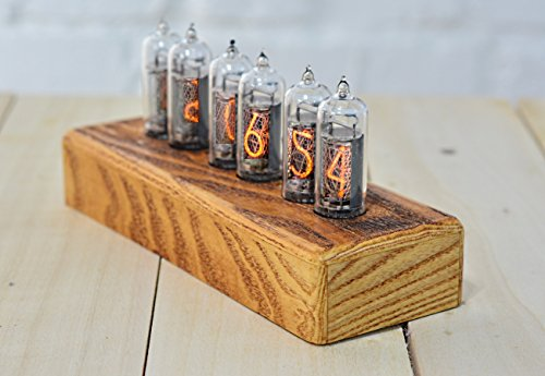 Nixie Tube Clock - Handcrafted Wooden Ash Enclosure - IN-14 NOS Nixie Tubes