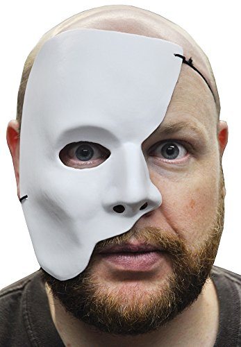 Scary-Masks Phantom Of The Opera Face Mask Halloween Costume - Most Adults -