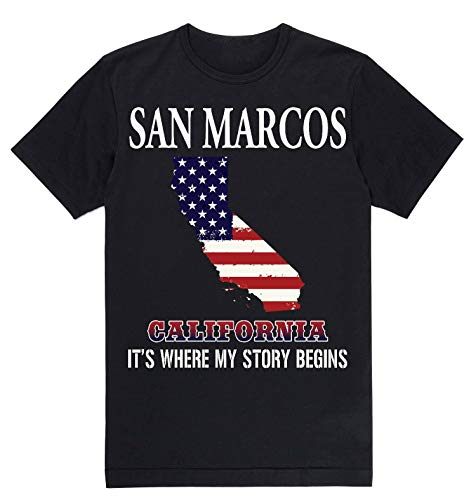 Independence Day Shirt - San Marcos California CA It's Where My Story Begins Black -