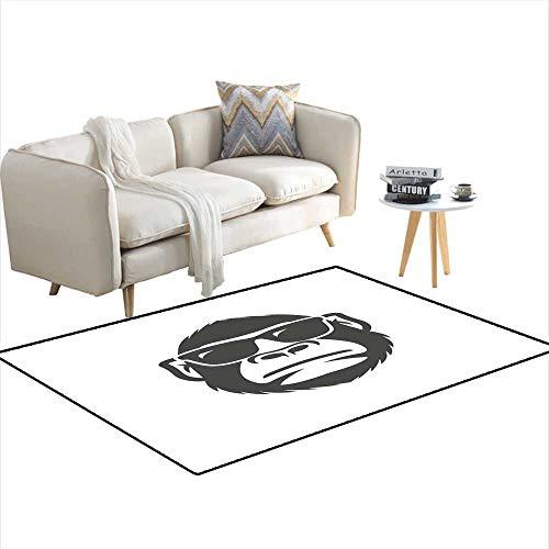 Kids Carpet Playmat Rug Monkey with Sunglasses Mascot 40
