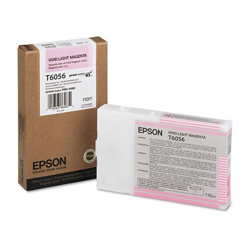 Epson T605600 UltraChrome K3 110ml Vivid Light Magenta Cartridge - Pigment Magenta Light