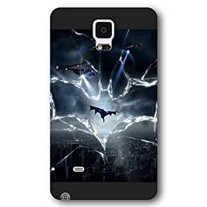 UniqueBox - Customized Personalized Black Frosted Samsung Galaxy Note 4 Case, The Joker, Batman Logo, Batman Samsung Note 4 case, Only fit Samsung Galaxy Note 4