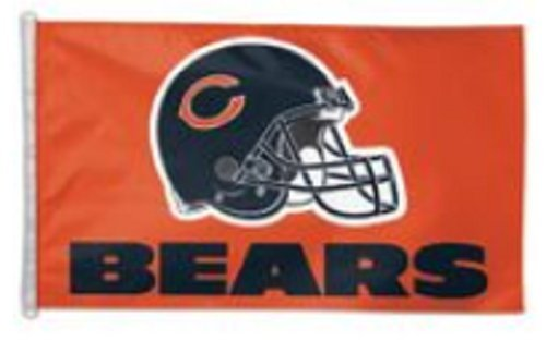Helmet Design Premium Flag With D-Rings (3' X 5', Chicago Bears) ()