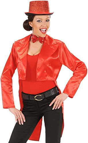 [Tailcoat Red Satin Womens Costume Large For Hardy Hollywood Film Fancy Dress] (Hollywood Film Fancy Dress Costumes)