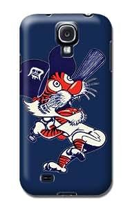 Samsung Galaxy S4 Protective Case - Impact Resistant Bumper, Mlb Baseball Detroit Tigers, Compatible With Samsung Galaxy S4 wangjiang maoyi
