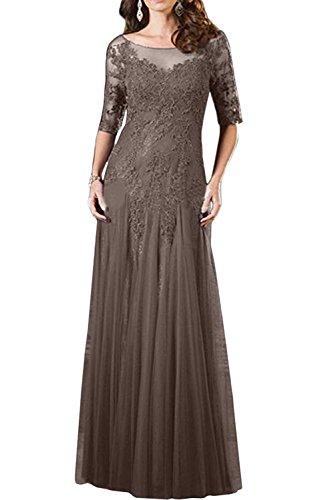 Spitze Kleider Charmant Brautmutterkleider Abendkleider Jaeger Ballkleider Damen Gruen Formal Braun Formalkleider Langarm wRSBIRq