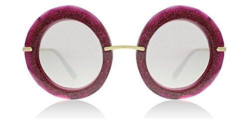 Dolce & Gabbana Women's Injected Woman Round Sunglasses, Fuxia/Glitter Gold, 50.0 - Sunglasses 2017 Gabbana Dolce