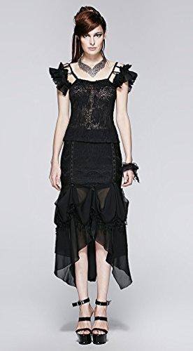 Schwarze Rock Meerjungfrau Elegante Gothic Ornament von Roses ...