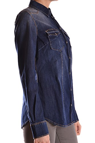 Liu Jo Damen MCBI191176O Blau Baumwolle Hemd