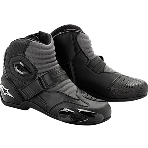 Alpinestars S-MX 1 Black Shadow Boots, Primary Color: Gray, Size: 5, Distinct Name: Gunmetal, Gender: Mens/Unisex 2224012-18-38