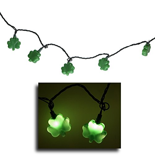 Plastic Shamrock String Lights