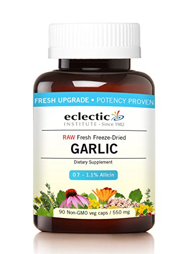 Eclectic Garlic 550 Mg Cog Fduv with Glass, Blue, 90 Count