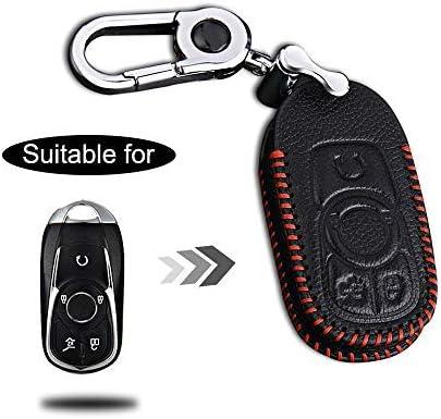 Schlüssel Hülle Leder Auto Schlüsseltasche Mit Schlüsselanhänger Für 3 Tasten Keyless Go Fernbedienung Autoschlüssel Rotes Nähen 1 Stück Modell G Auto