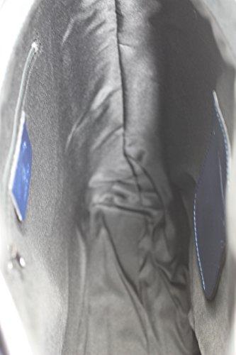 in femme avec véritable Italy à sac 100 Bleu cuir Made classique main 34x36x10cm poignées sac CTM HqOwYH