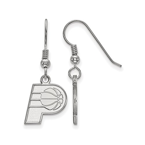 NBA Indiana Pacers Small Dangle Earrings in Sterling Silver by LogoArt