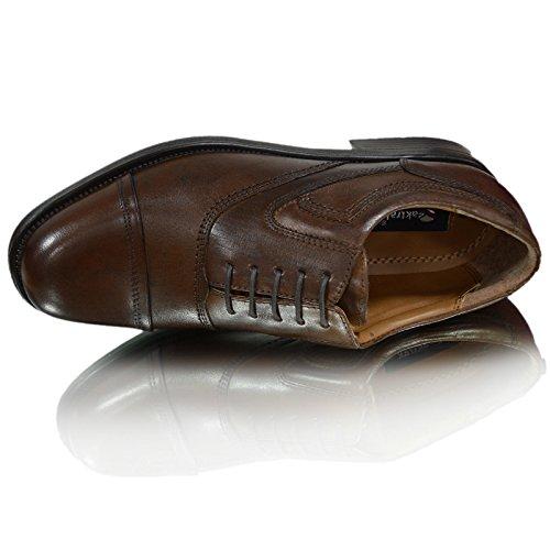 Stein Leder Oxford pinham Brogues castagina Works schwarz Brücke oaktrak Schuhe Herren oder braun braun castagnia OXUwU0