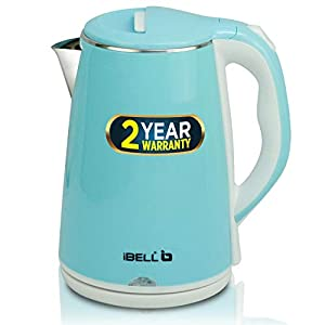iBELL SEKB20LPlus Premium 2.0 Litre Stainless Steel Electric Kettle,1500W Auto Cut-Off Feature, Blue