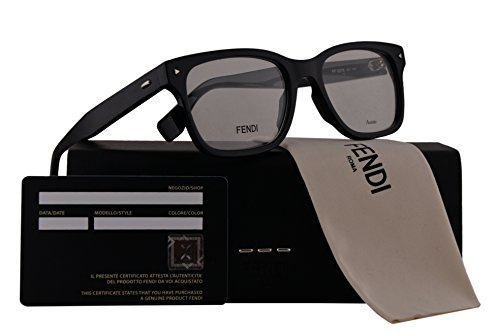 Fendi FF0218 Eyeglasses 52-18-145 Black w/Demo Clear Lens 807 FF - Fendi 2017 New Sunglasses