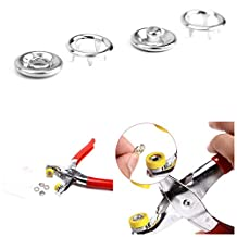 Trimming Shop 100 Pcs Silver Prong Ring Press Studs For Making Straps Keyrings And Crafts Projects Includes Pliers For Attaching Pieces Snap Fasteners For