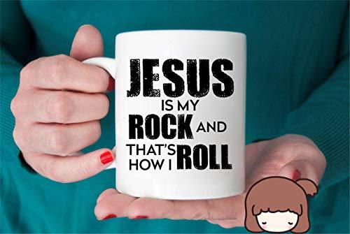 Jesus Is My Rock And Thats How I Roll Mug Inspirational Mug Motivational Christian Jesus Prayer Christ Coffee Mug Gift