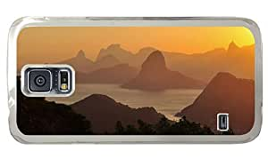 Hipster underwater Samsung Galaxy S5 Cases golden sunset hd PC Transparent for Samsung S5 by runtopwell